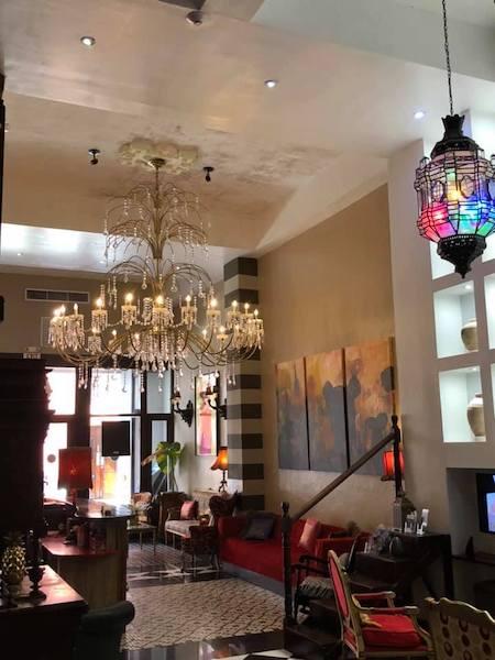 Old San Juan - Puerto Rico - Casablanca Hotel - hotel lobby