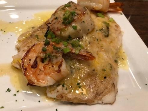 Anna Maria island - The Feast Restaurant - Hog Fish- Gulf of Mexico - Florida seafood - Gulf Shrimp - Scallops