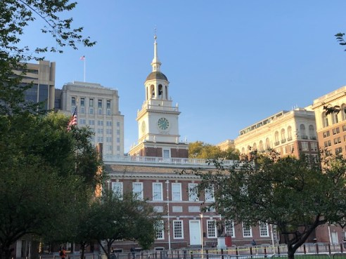 Mark and Chuck's Adventures – Travel bloggers – Food bloggers- Philadelphia - Old City Philadelphia - Independence National Park - Independence Hall