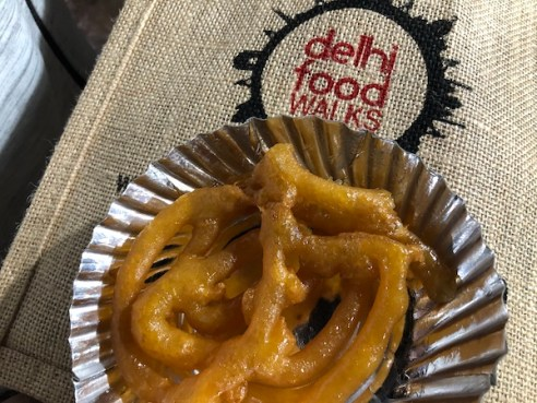 jalebi - Indian street food - Indian desserts= Delhi Food Walks - Old Delhi - Mark and Chuck's Adventures