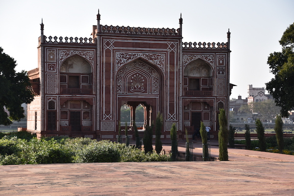 Agra – Baby Taj - Tomb of I'timād-ud-Daulah – India travel - Gate 1 Travel - Mark and Chuck's Adventures - red sandstone buildings - marble inlay