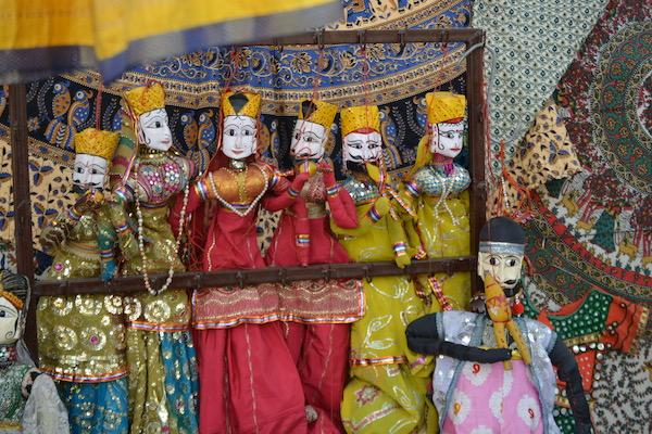Rajasthani puppets - Rajasthan - Jaipur - Jaipur bazaar - Mark and Chuck's Adventures - India travel