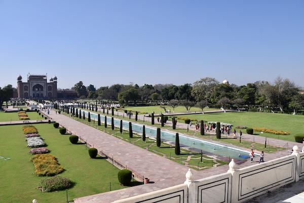 Mark and Chuck's Adventures - India trip - Taj Mahal - gardens - Agra