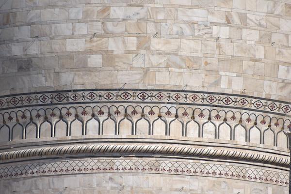 Mark and Chuck's Adventures - India trip - Taj Mahal - marble detailing - Taj Mahal dome