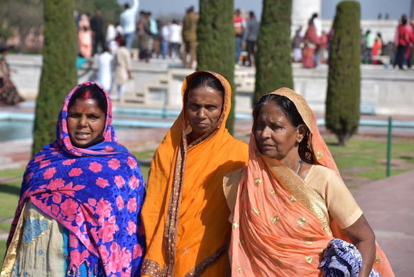 Mark and Chuck's Adventures - India trip - Indian Women - Indian women in brightly colored saris - Taj Mahal - Agra