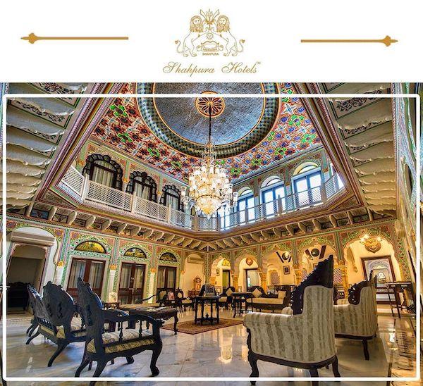 Shahpura House - Jaipur luxury hotel - main salon