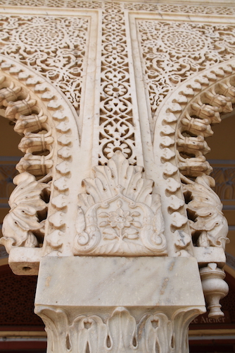 hand carved marble columns - marble columns - marble carving - Jaipur City Palace