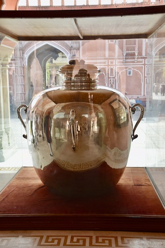 silver water jug - Guinness Book of World Records - Jaipur City Palace
