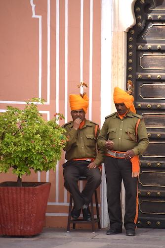 Jaipur guards - orange turbans- Jaipur City Palace