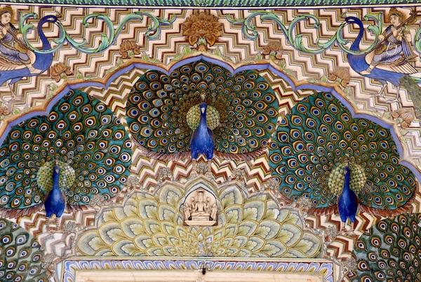 Peacock - Peacock door - Jaipur City Palace - Jaipur India