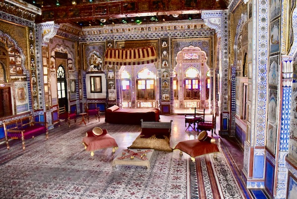 Takhat Singh's apartment - hand painted apartment - -Mehrangarh Fort – Jodhpur – Rajasthan – India – India travel blog – traveling in India
