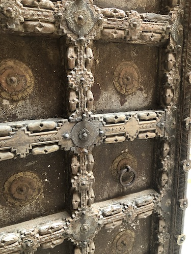 doors- decorated doors - -Mehrangarh Fort – Jodhpur – Rajasthan – India – India travel blog – traveling in India