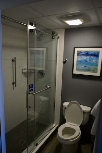 bathroom at the doubletree suites by Hilton