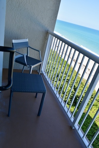 balcony and views of the Atlantic ocean from our hotel room