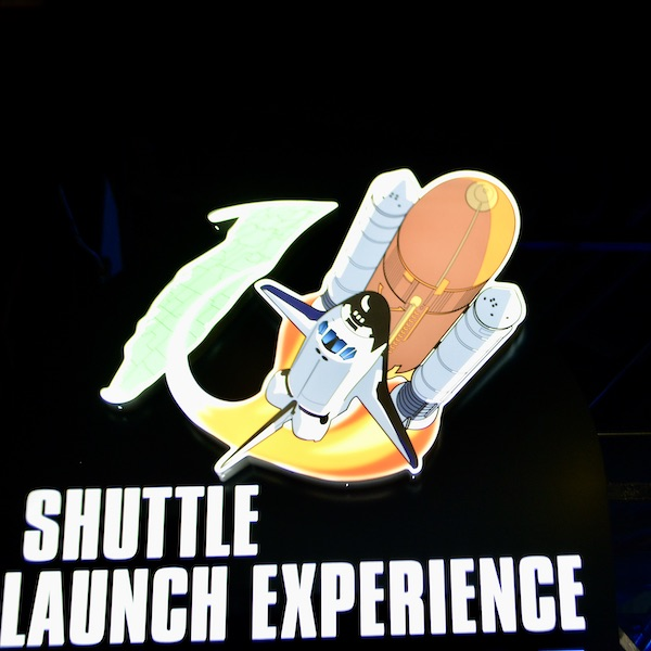 sign for the Shuttle Launch Experience