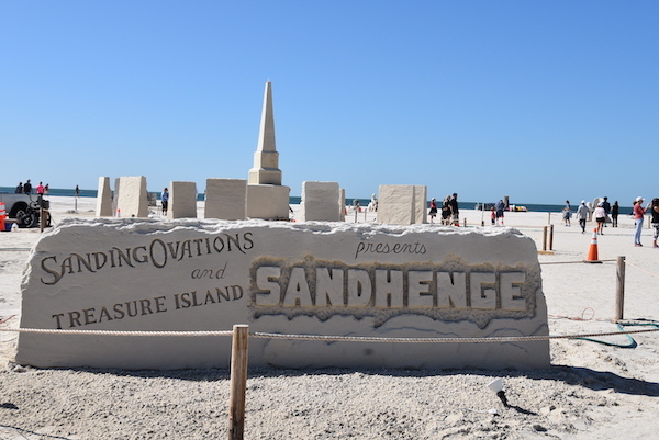 Featured Sandhenge sand sculpture at the Treasure Island Florida Sanding Ovations 2020