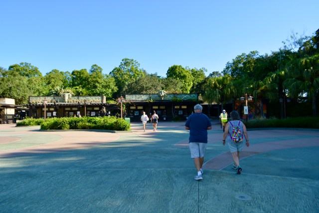 Main Entrance to Disney's Animal Kingdom Theme Park during COVID 19
