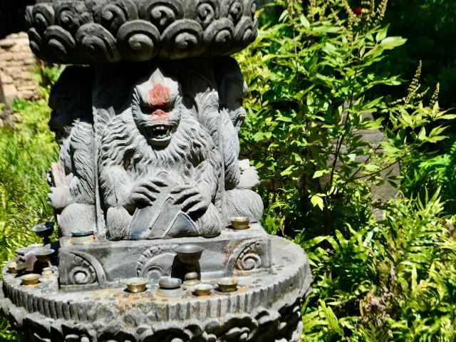 Yeti statue on along the queue for Expedition Everest at Disney's Animal Kingdom