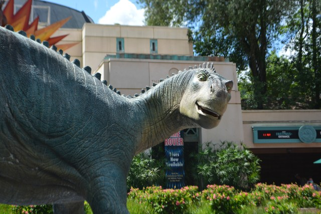 Entrance to The Dinosaur Institute at the DINOSAUR attraction in Disney's Animal Kingdom