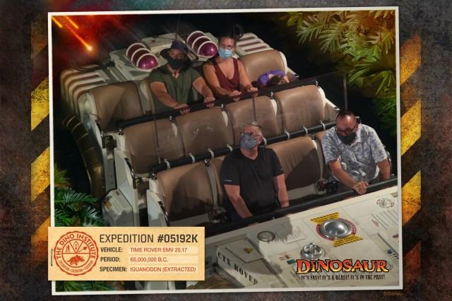 Mark and Chuck riding DINOSAUR at Disney's Animal Kingdom