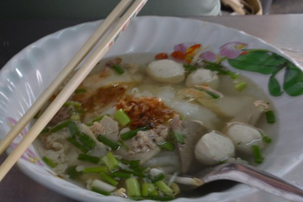 bowl of soup from a street stall in Bangkok