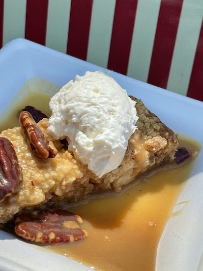 Pecan Cake with Maple Whipped Cream at EPCOT 2021 Flower and Garden Festival