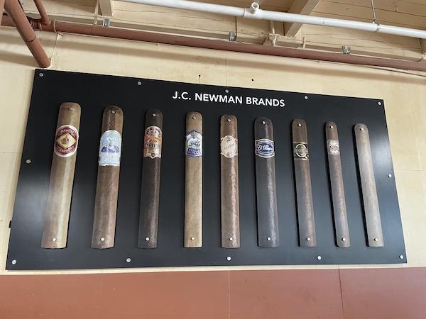 sign showcasing the JC Newman cigar brands