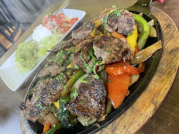 Beef Fajitas at Reyna's Taqueria in Sarasota Florida