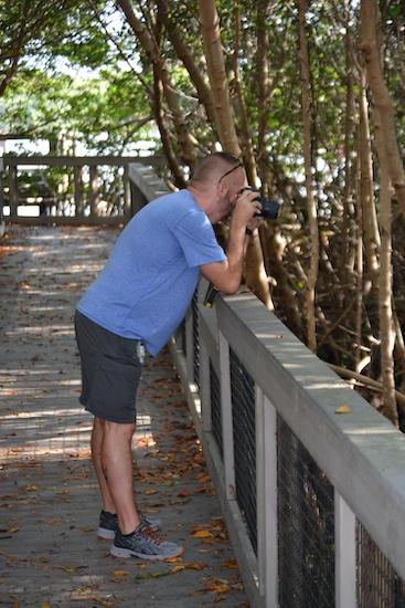 Chuck taking photos of the mangroves at J.N Ding Darling National Wildlife Refuge on Sanibel Island Florida