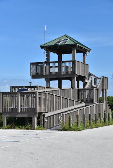 observation tower at the J.N Ding Darling National Wildlife Refuge