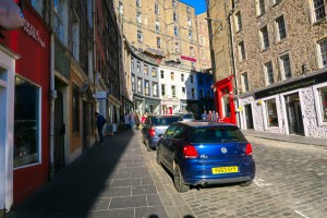 Victoria Street, Edinburgh by our apartment