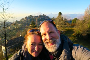 Us at the top of Bergamo