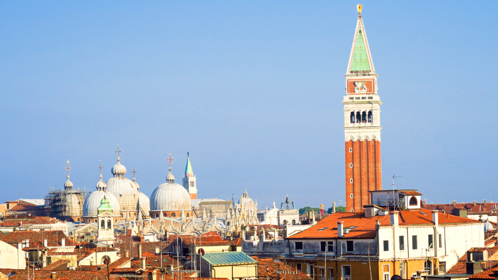 Roof top view of Venice, Italy