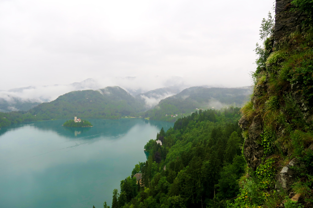 View of Lake Bled from the Castle