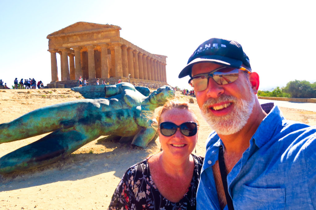 Us at the Valley of the Temples in Agrigento, Sicily