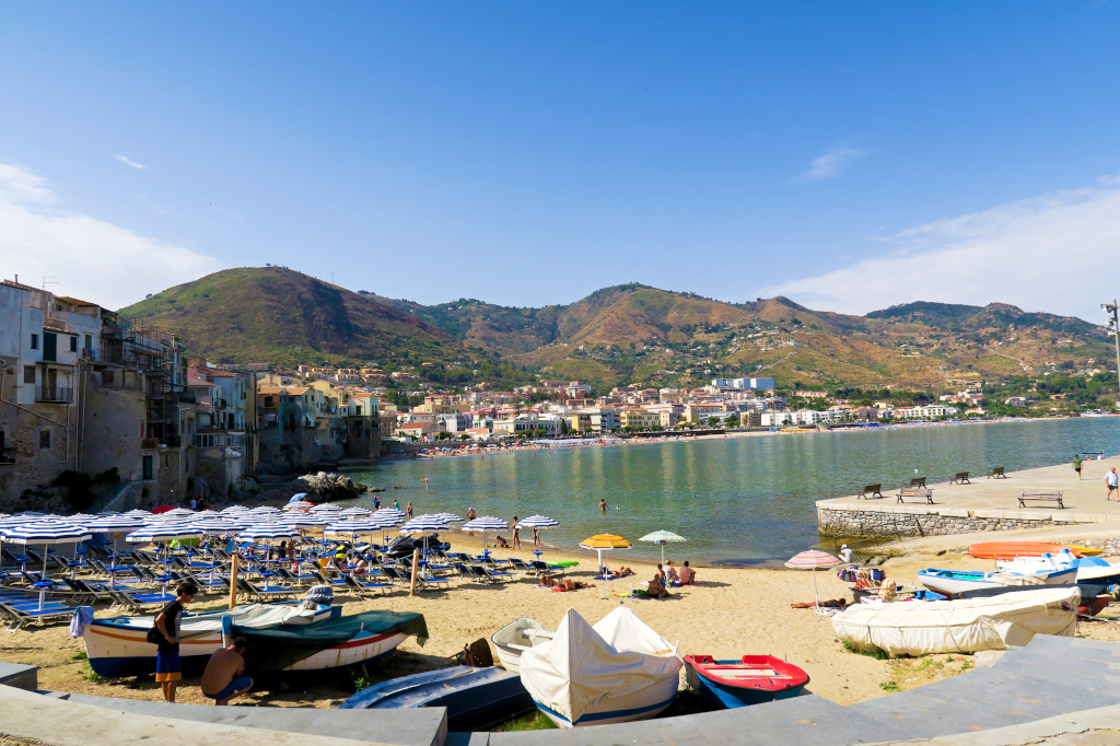 Behind the old town of Cefalu