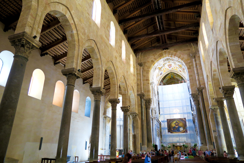 Inside the Cathedral of Cefalu