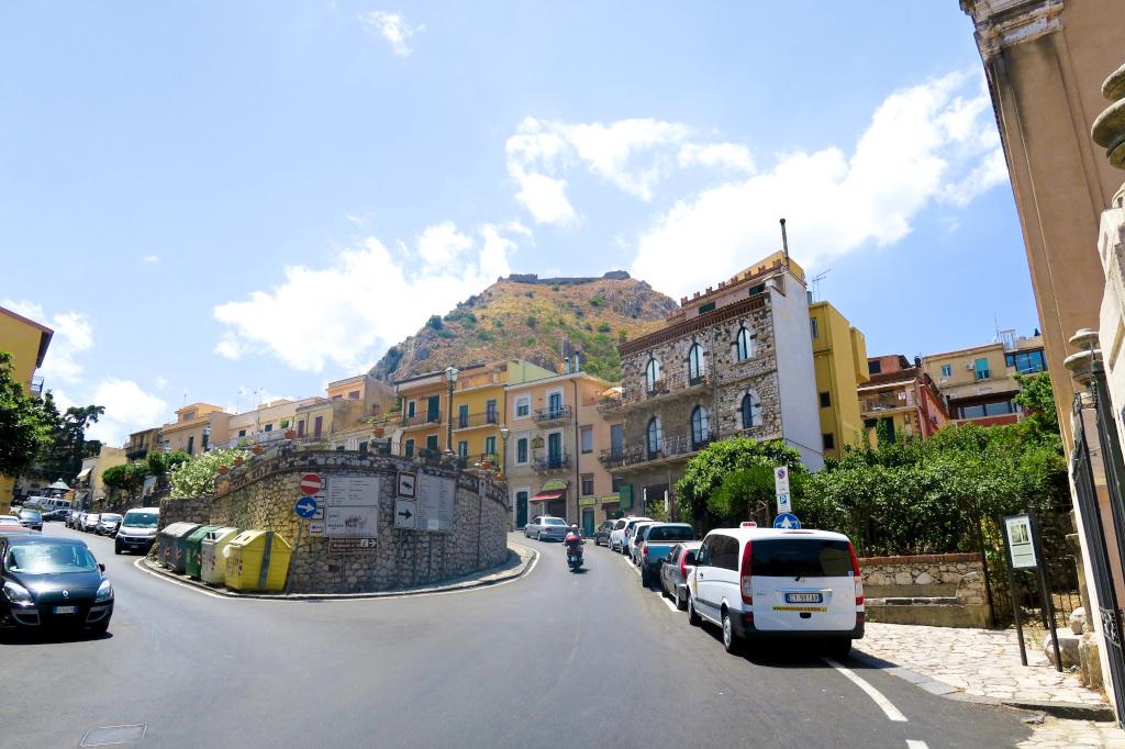 The main road to Taormina