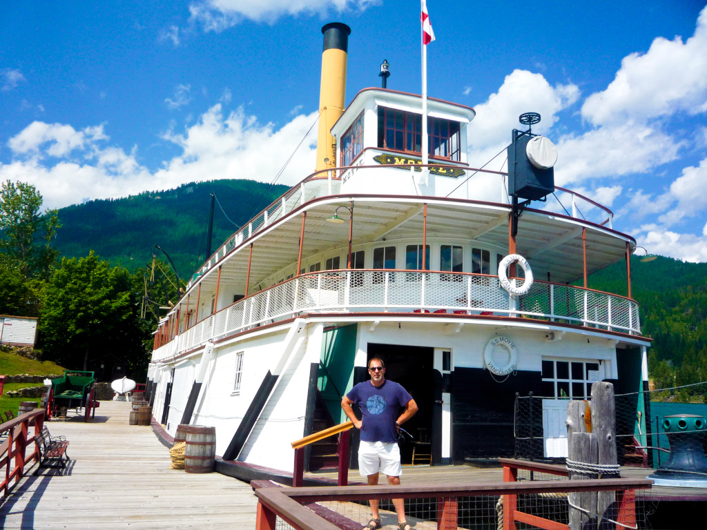 The Moyie Steam Wheeler in Kaslo,BC