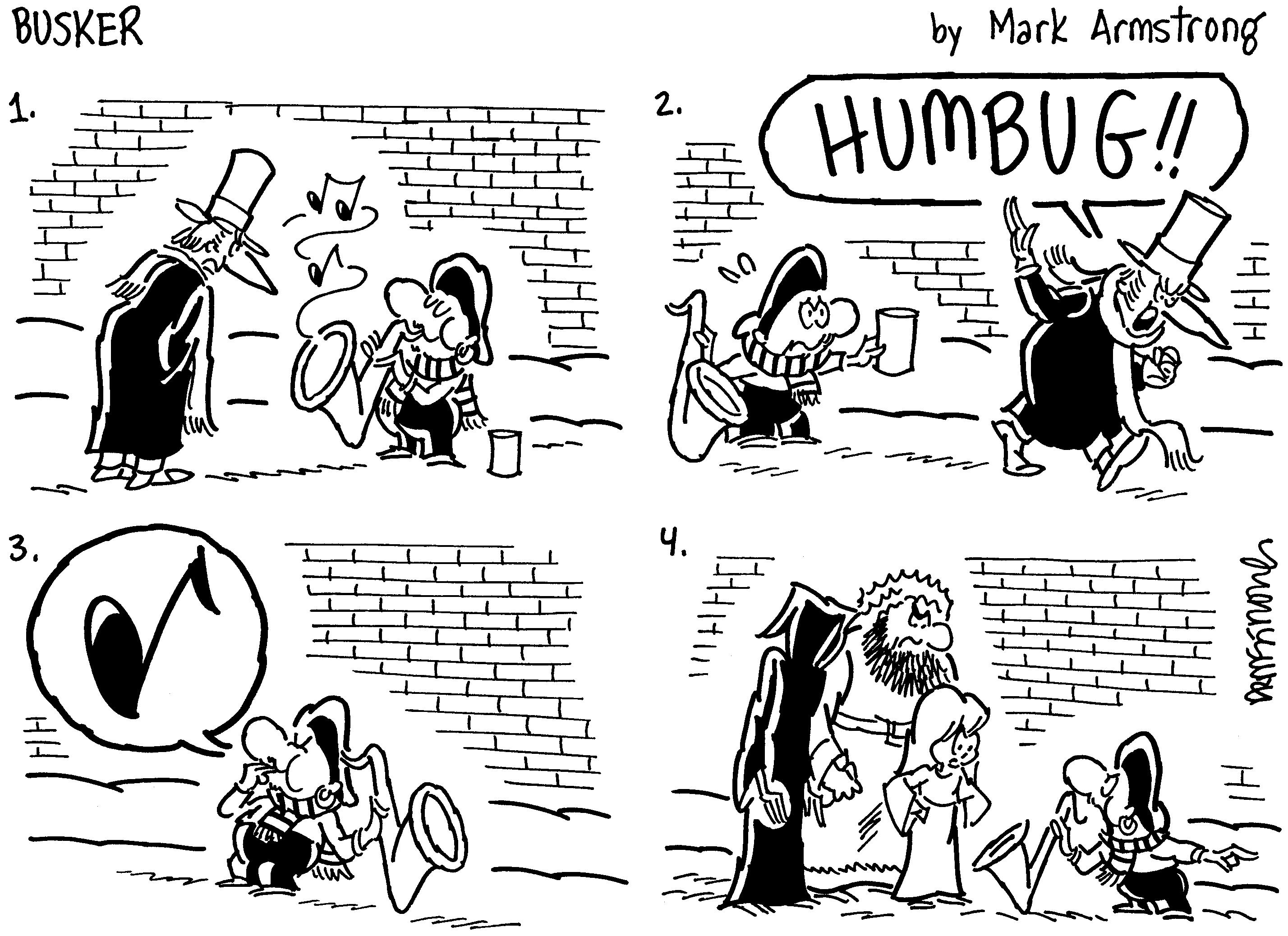 Busker S Christmas Carol Miser Beware