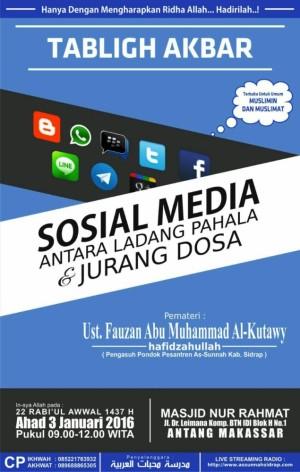 Sosial media antara ladang pahala dan jurang dosa