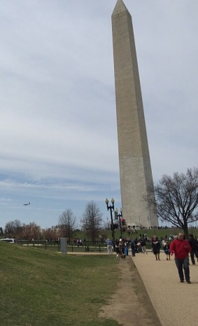 The Monument welcomes incoming planes, too.