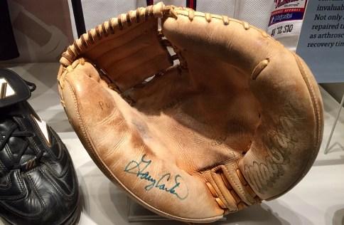 Gary Carter's catcher's mitt.