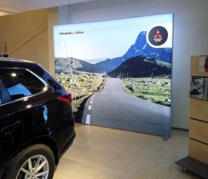 Mitsubishi Light Box for Showroom