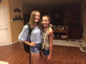 Em and Sophie first day