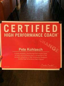 pete high performance coach