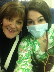 mom and mask