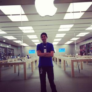 working at the apple store