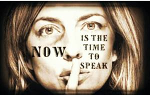 now is the time to speak
