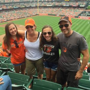 family at o's game